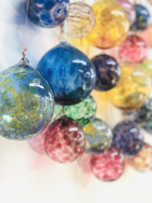 Christmas baubles Allister Malcolm glass