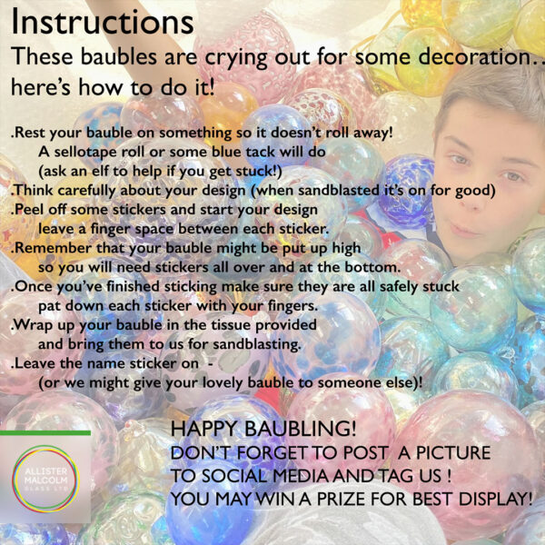 Bauble decorating Instructions, Great British Bauble Takeaway