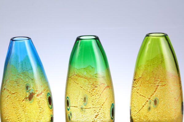 colourful handmade Glassart Vases by Allister Malcolm
